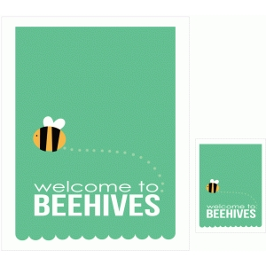 welcome to beehives print and cut quote card