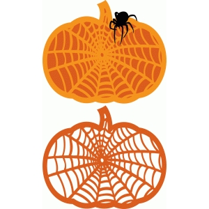 pumpkin spider web