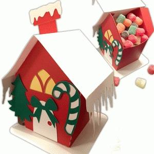 christmas candy box house