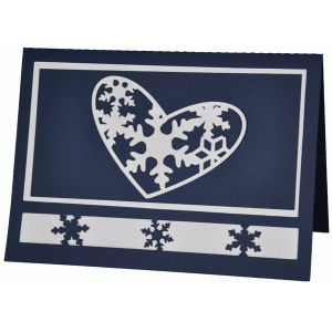 snowflaked heart card
