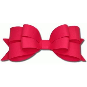 3d layered puckered bow