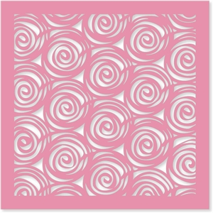 rose top swirls background