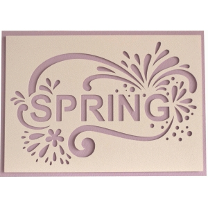 5x7 spring layer card