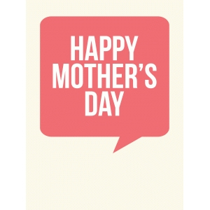 happy mother's day 3x4 quote card