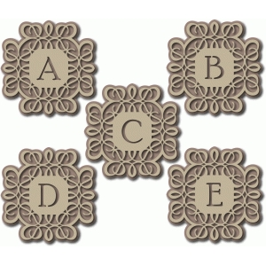 flourish monogram abcde