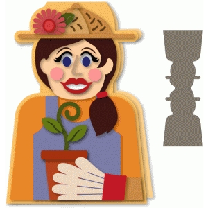 gardener gal a7 shaped card