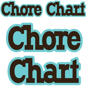 'chore chart' word title