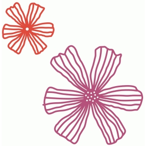 fleurs papercut flower shapes