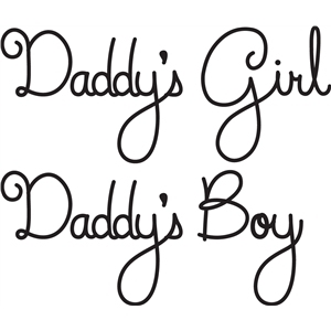 daddy's girl/boy