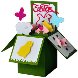 easter critters card in a box