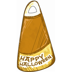 halloween candy corn tag