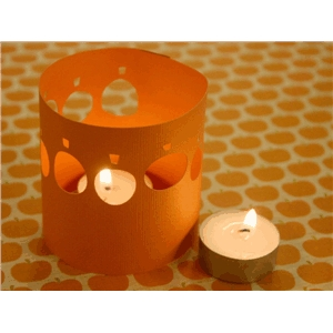 pumpkin tealight luminary