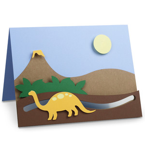 dinosaur motion card