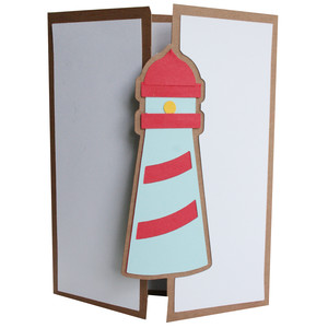 lighthouse tri-fold card