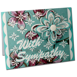 with sympathy design card