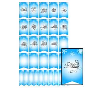 12 days of christmas planner stickers