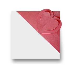'interlock' corner bookmark - heart
