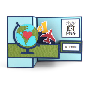 pop up box card father's day world