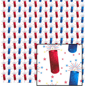 4th of july red & blue pattern