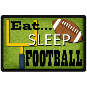 eat sleep football title