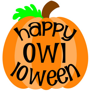 happy owl loween pumpkin