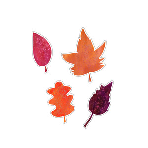 painted leaf place cards