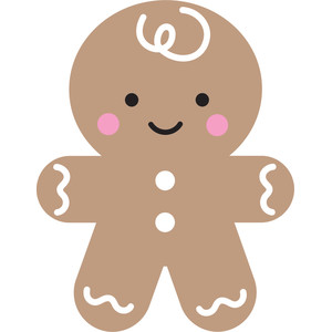 gingerbread man - milk & cookies