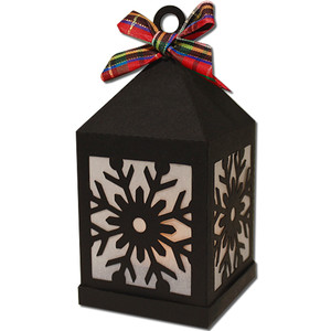 snowflake hanging tea light lantern