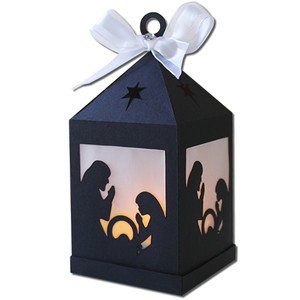 nativity hanging tea light lantern