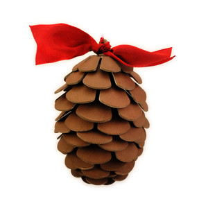 pine cone chunky 3d ornament