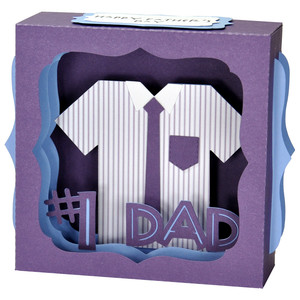father's day shirt gift card box