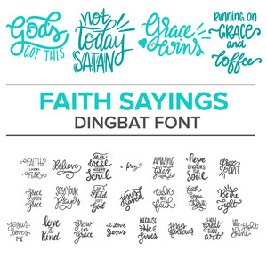 faith sayings dingbat font