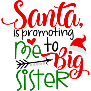 santa is promoting me to big sister