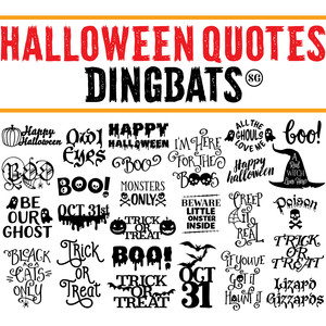 sg halloween sayings dingbats font