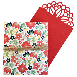 flower card with pocket