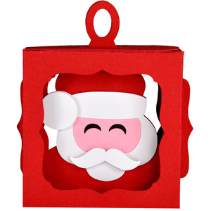 santa hanging ornament box