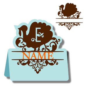 monogram place card & nameplate - turkey e