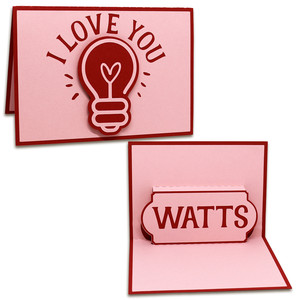 love you watts pop-up card