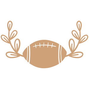 football leaf frame