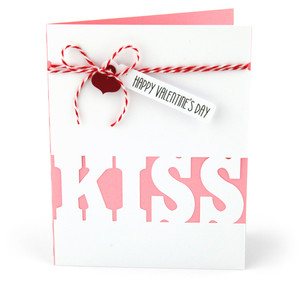 valentine card kiss