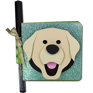 labrador double sticky note holder