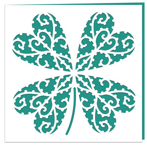 lucky four leaf clover card