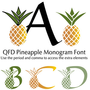 qfd pineapple monogram font