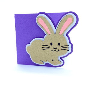 baby rabbit card