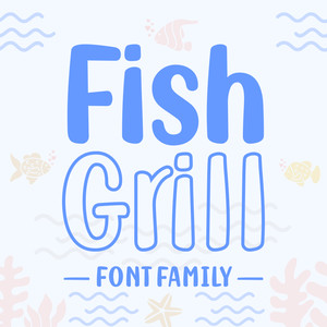 fish grill family font