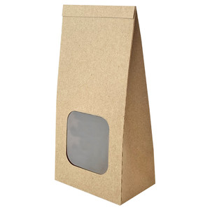 self standing bag with window