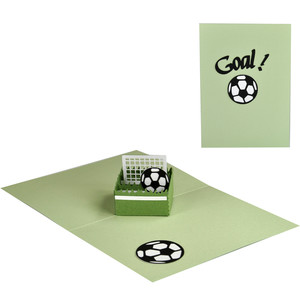 goal! soccer pop up box in a card
