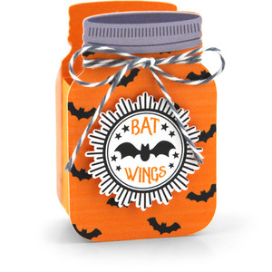 mason jar treat box bat wings