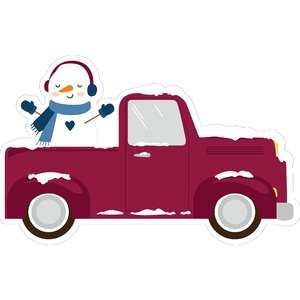 truck and snowman