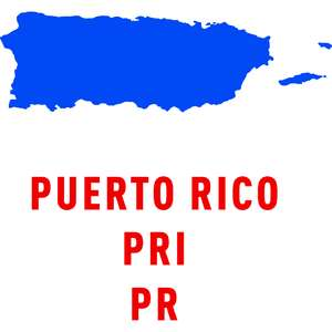 puerto rico country outline